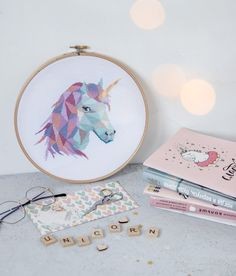 Unicorn Cross Stitch Pattern PDF, Geometric Cross Stitch, Unicorn Embroidery, Modern Cross Stitch, C Unicorn Cross Stitch Pattern, Cat Pattern, Geometric Owl, Create A Fairy, Hello Kitty Wallpaper, Modern Cross Stitch Patterns, Dmc Floss, Loom Patterns, Loom Beading