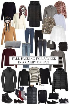 27 New Ideas for travel style winter cold weather capsule wardrobe Winter Mode Outfits, Cold Weather Outfits, Winter Fashion Outfits, Winter Outfits, Fall Fashion, Curvy Fashion, Style Fashion, Fall Packing, Packing List For Travel