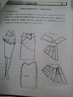 Falda con canesu asimétrico y doble falda