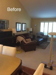 classic • casual • home: Blue & White Personalized Living Room Makeover--Before/After