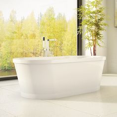 Simple stylish freestanding bathtub by Alcove / Eidel Collection Alcove, Bathroom, Freestanding Bathtub, Stylish, Simple, Collection, Washroom, Freestanding Tub, Bath Room