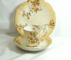 Art Nouveau  Fine bone china Martial Redon Limoges 1882 to 1896 Blush and flower…