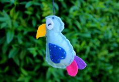 DIY, felt, bird <3