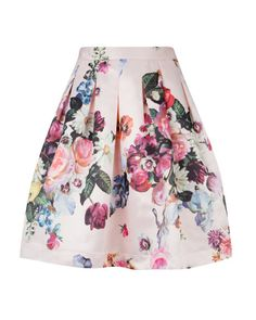 FLOWTII - Oil painting printed skirt - Nude Pink | Womens | Ted Baker ROW