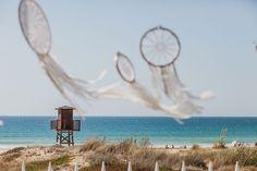 Atrapasueños boda playa / dream catcher wedding beach. La boda de Carmen & Jose Miguel, El Palmar, 24 de septiembre de 2016.