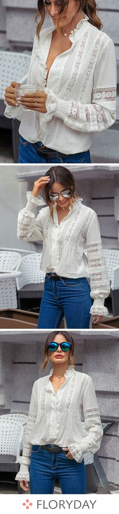 Rendez votre journée plus douce avec ce chemisier blanc.