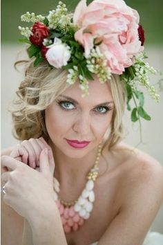 Bridal Floral Halo...I can't help but love this!