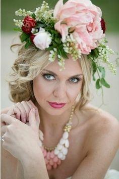 Bridal Floral Halo More Bridal Floral Flower Crowns Floral Headpieces