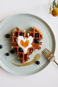 Waffles, Yogurt, and Preserves   @thefauxmartha