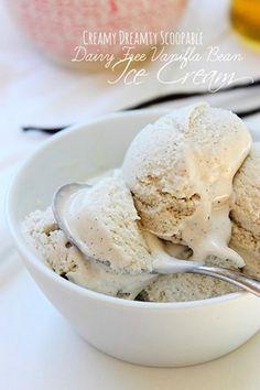Vanilla Ice Cream- made with coconut milk and cashews and no ice cream maker!