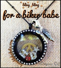 Origami Owl is perfect for a biker babe!  Are you a Harley Davidson lover like me!?  http://loveablelockets.com  http://kaylascully.origamiowl.com