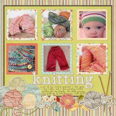 Knitting theme idea.