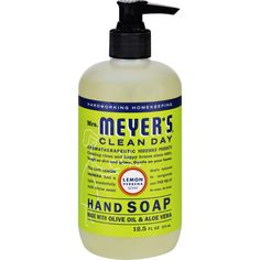 Mrs. Meyers Liquid Hand Soap - Lemon Verbena - 12.5 oz - Mrs. Meyers Clean Day Lemon Verbena Liquid Hand Soap contains aloe vera gel olive oil and a unique blend of natural essential oils to create a hardworking non-drying yet softening cleanser for busy hands. Hands have never had it so good. Mrs. Meyers Clean Day products are powerful on dirt and grime yet gentle enough to use on your hands and body and paraben free. Each product is made with plant-derived ingredients and natural…