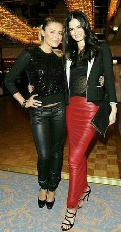 Sexy Skirt, Dress Skirt, Bodycon Dress, Leather Fashion, Red Leather, Hobble Skirt, Satin Blouses, Beauty Women, Leather Skirts