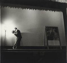 Diane Arbus, A Couple Kissing on Stage, New York, 1963