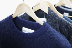 Textured boiled-wool pieces from Swedish brand Our Legacy. MORE >> http://www.oki-ni.com/daily/2015/04/oki-ni-aw15-press-day