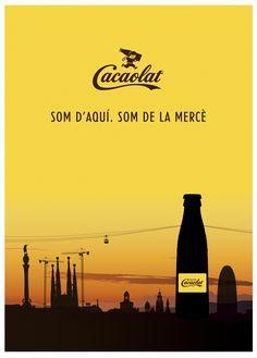 """Cacaolat   Anuncio """" La Mercè 2013""""   Creatividad y diseño del anuncio de Cacaolat para el programa de fiestas de La Mercè 2013."""