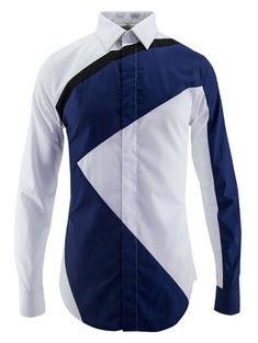 Fashion Men's Turn-Down Collar Color Block Splicing Long Sleeve Shirt from 80.46$ by SAMMYDRESS
