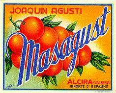 """Naranjas """"Masagust"""" Joaquín Agustí.  Alzira."""