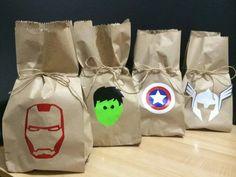 Bolsa de dulces #fiesta #bolsadedulces #avengers #hulk #ironman #thor #capitanamerica #tissa #diseño