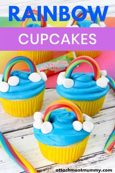 The unicorn food trend isn't going anywhere soon so why not rustle up these amazing rainbow cupcakes! You are guaranteed to wow at any rainbow birthday party, baby shower or tea party with these treats. Nothing says unicorn like a rainbow cake! #rainbowcupcakes #rainbowbirthdayparty #unicornfood Rainbow Birthday Party, Rainbow Theme, Rainbow Baby, 7th Birthday, Birthday Parties, Rainbow Cupcakes Recipe, Cupcake Recipes, Chocolate Chip Recipes, Brownie Recipes