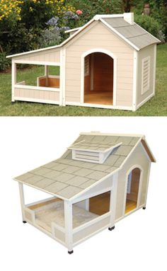 Precision Pet (dog house): Outback Savannah Luxury Dog Home with Porch