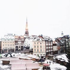 Beautiful view of the Dome Square in Riga!