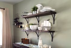 Dining room shelves from 2 x 10