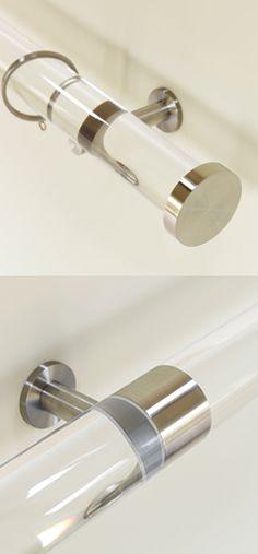 Hasta Infront Black Acrylic 28mm, 20mm 13mm Metal Curtain Pole