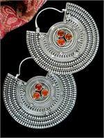 Quality Large Tibetan Sterling Silver Earrings
