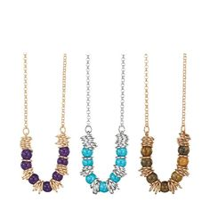"""Begin a beautiful tradition with Avon's instant keepsake charms and jewelry! Bring good fortune, healing and serenity to your everyday jewelry wear.  FEATURES • Spiritually charged colored beaded necklace with metallic accents • Offered in goldtone: Good Fortune-Tiger's Eye color, Serenity• Amethyst-color/silvertone: Healing-Turquoise-color • Necklace is 16 1/2"""" long with a 3 1/2"""" extender/Beads measure 6mm • Lobster Claw closure  MATERIALS ..."""