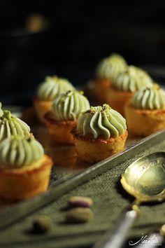 Mini Orangen-Pistazien Cupcakes