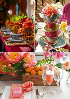 Colourful tables