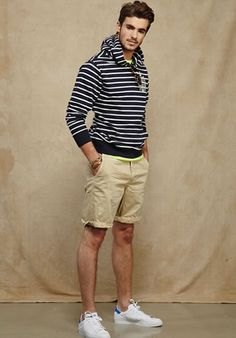 new concept 57584 4201f American Eagle SpringSummer 2015 Striped hoodie with white tennis shoes  Boy Fashion, Fashion