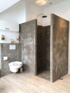 purple Bathroom Decor 33 vintage bathroom decor id - bathroomdecor Vintage Bathroom Decor, Modern Bathroom, Small Bathroom, Bathroom Ideas, Bathroom Grey, Concrete Shower, Concrete Bathroom, Purple Bathrooms, Bathroom Interior Design