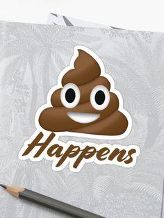 ' Sticker by damanarora Emoji Design, Funny Emoji, Sticker Design, Glossier Stickers, Graphic Tees, Classic T Shirts, Shit Happens, Prints, Graphic T Shirts