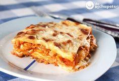 Quizás la lasaña + cocinada en los hogares de España, lasaña de atún http://www.recetasderechupete.com/lasana-de-atun/12633/ #recetas