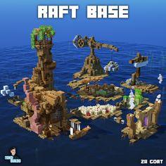 Casa Medieval Minecraft, Minecraft House Plans, Minecraft City, Minecraft House Designs, Minecraft Construction, Amazing Minecraft, Minecraft Blueprints, Minecraft Creations, Minecraft Epic Builds