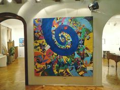 """""""Spiral of Time. Mandala"""" at the Goldart Auction House Bucharest Bucharest, Spiral, Mandala, Auction, Tapestry, House, Painting, Home Decor, Art"""