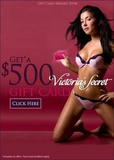 Get Free $500 Victoria Gift Cards !!