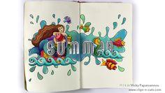 Clips-n-Cuts | Art Journal | Summer mermaid | http://www.clips-n-cuts.com