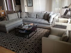 Iu0027m loving that rug. : arhaus garner sectional - Sectionals, Sofas & Couches