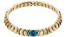 Blue Topaz, Diamond, Gold Necklace, Marina B.