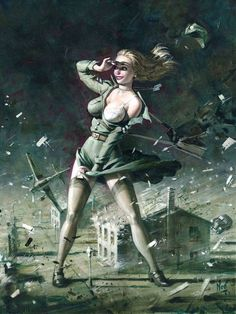 Collection of Aviation Pin Up and Nose Art copyrights belong to their respective owners. Dark Fantasy Art, Fantasy Women, Fantasy Girl, Fantasy Artwork, Dark Art, Arte Sci Fi, Sci Fi Art, Comic Cover, Science Fiction Kunst