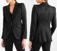 Meghan s jacket is the £1,245 McQueen Grain de poudre wool blazer. It is  described 8d6ac94023e0