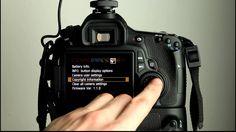 Canon EOS 60D Tutorial 11 - Camera Setup Menu 3