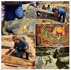 """In 2016, Egyptian archaeologists have uncovered a fabulously-decorated 2,300-year-old mummy in the Saqqara burial complex. """"Maybe [it's] the most beautiful mummy ever found. It has a golden mask and the body is completely covered with cartonnage -..."""