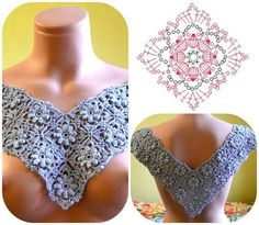 Wip crochet top love this square inspiration itwasyarn crochet crochetmotif crochetsquare amazingcrochet crochetpattern freecrochetpattern Notte Rosa filet crochet top p How to Crochet a Solid Granny Square - Crochet Ideas This post was discovered by Le Col Crochet, Crochet Hood, Crochet Motifs, Crochet Collar, Crochet Diagram, Crochet Blouse, Crochet Poncho, Crochet Squares, Easy Crochet