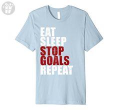 Men's Eat Sleep Stop Goal Repeat Soccer Hockey Sport Shirt Goalie XL Baby Blue - Eat sleep repeat t shirts (*Amazon Partner-Link)