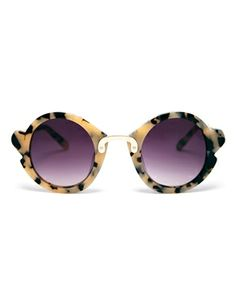 Enlarge ASOS Handmade Acetate Round Sunglasses With Nose & Corner Detail